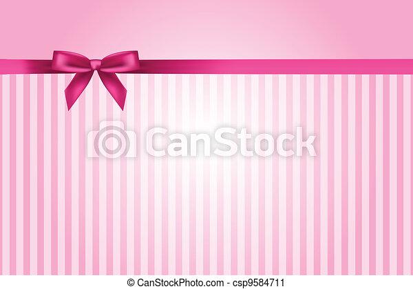 rosa, vektor, hintergrund, schleife - csp9584711