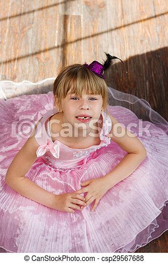 Rosa Viejo Años 6 Niña Vestido Rosa Dress Viejo