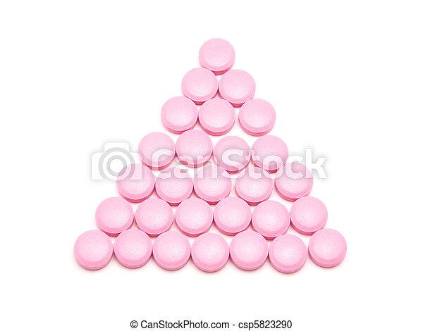 rosa, vit, lertavlor, bakgrund - csp5823290