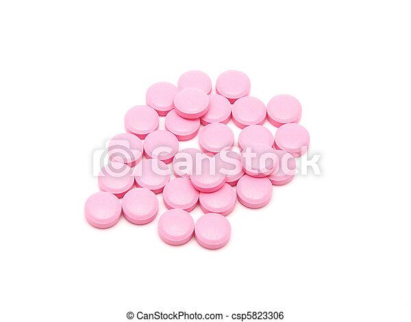 rosa, vit, lertavlor, bakgrund - csp5823306
