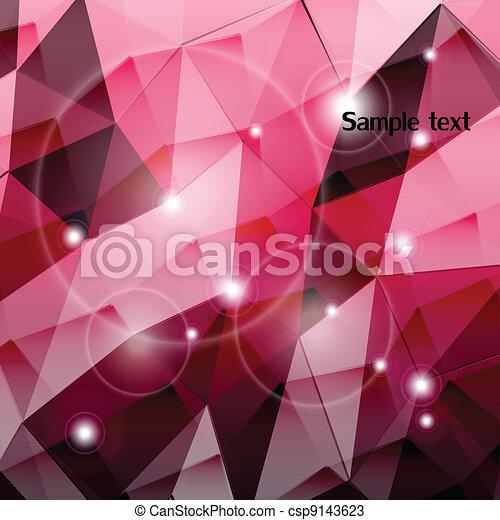 Rosa, wallpaper., vektor, triangel, komposition. Rosa ...