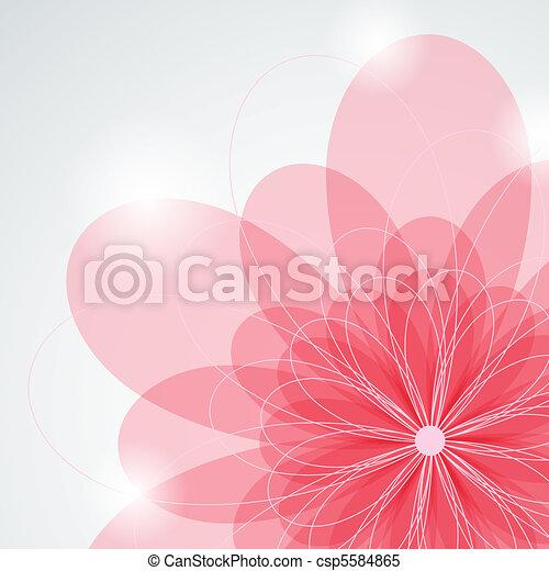 rosafarbene blume - csp5584865