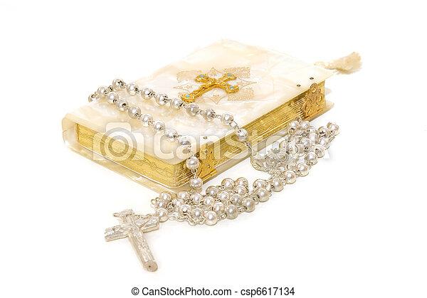rosario, libro, comunión, primero - csp6617134