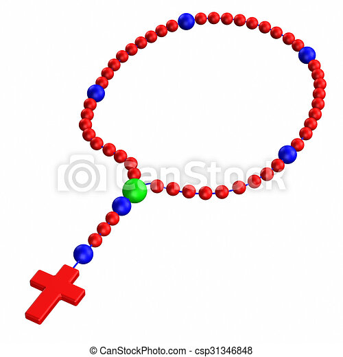 rosary isolated on white background 3d render drawing search rh canstockphoto com clipart rosary beads rosary clipart black and white