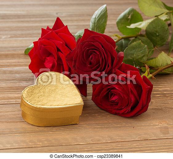 rosas, dia valentine, mãe - csp23389841