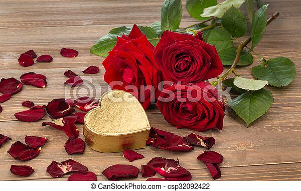 rosas, dia valentine, mãe - csp32092422