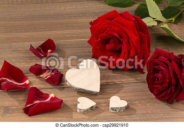 rosas, dia valentine, mãe - csp29921910