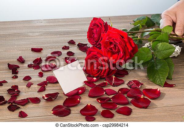 rosas, dia valentine, mãe - csp29984214
