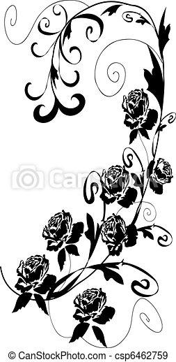 Diseno De Rosas Negras Diseno Floral De Rosas Negras