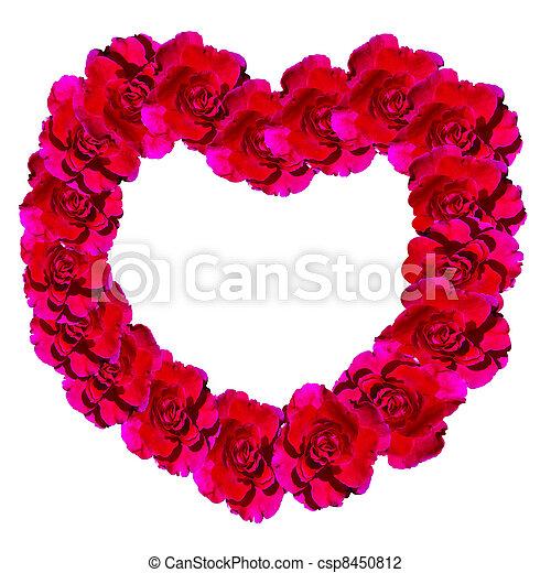 rosas marco corazones csp8450812