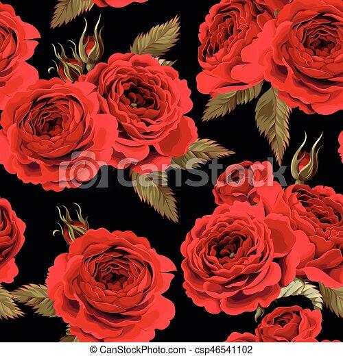 Rosas inglesas sin costura - csp46541102