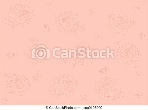 Un fondo sin semen con rosas - csp9195900