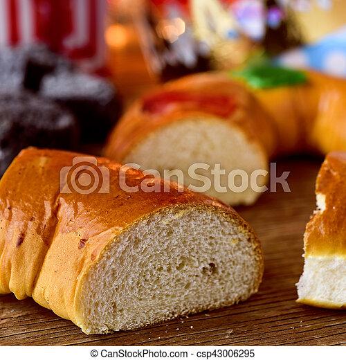 Roscon De Drei Spanischer Kuchen Konige Reyes Traditionelle