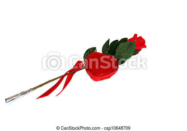 Rose And A Candy Heart III - csp10648709