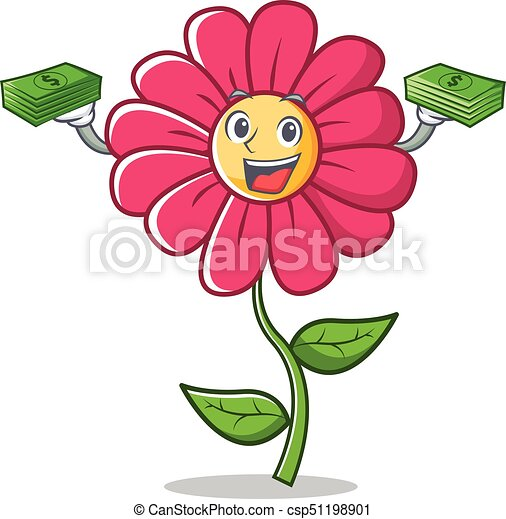 Rose Argent Fleur Caractere Dessin Anime Fleur Rose Argent