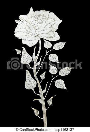 rose, ausschnitt - csp1163137
