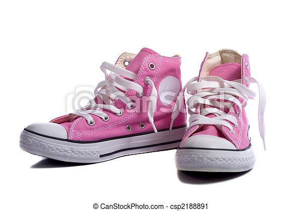 rose, basket-ball, espadrilles, ou, chaussures - csp2188891
