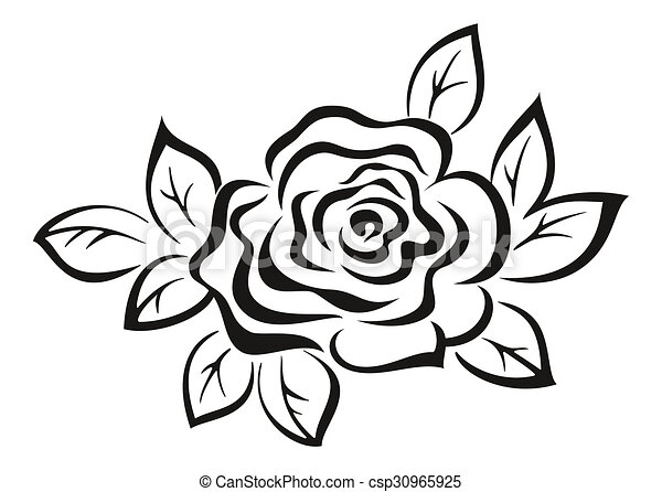 rosenblüten, schwarzes piktogramm. rose-blumechrome schwarzes piktogramm icon isoliert auf