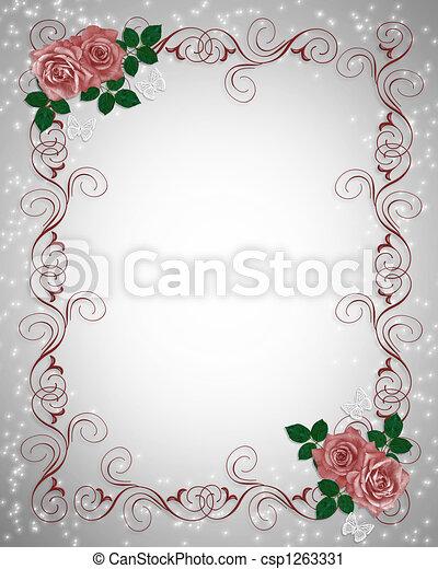 rose, bordo, rosso, invito - csp1263331