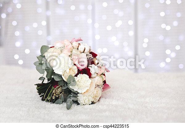 Rose Bouquet Fleurs Coton Mariage