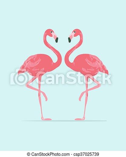 rose c vecteur illustration flamant rose rose exotique flamant rose plat couple. Black Bedroom Furniture Sets. Home Design Ideas