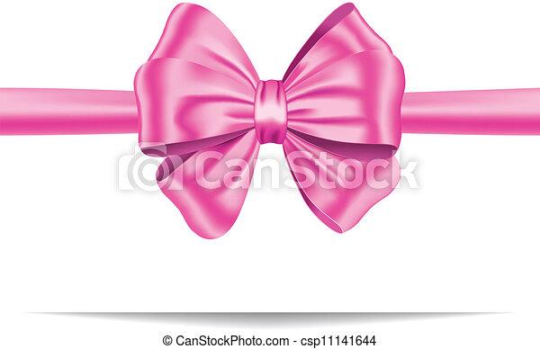 rose, cadeau, ruban, arc - csp11141644