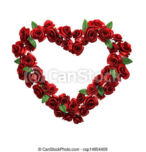 Cadre Photo-Coeur rouge