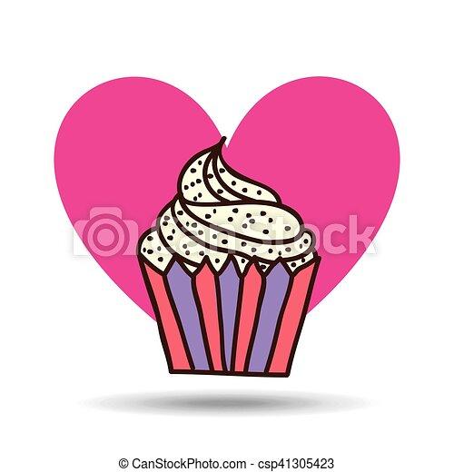 Rose coeur doux petit g teau conception chips dessin - Dessin de petit coeur ...