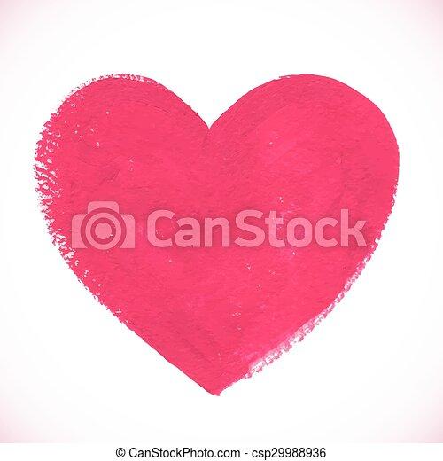 rose, coeur, peint, couleur, textured, acrylique - csp29988936