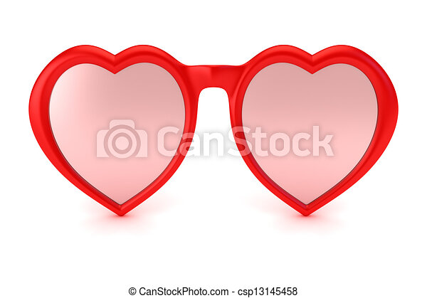 Rose Colored Glasses Symbol Of Hope Happiness And Love
