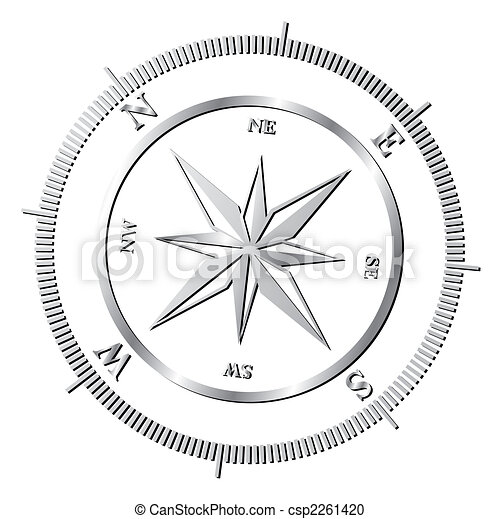 rose, compas - csp2261420