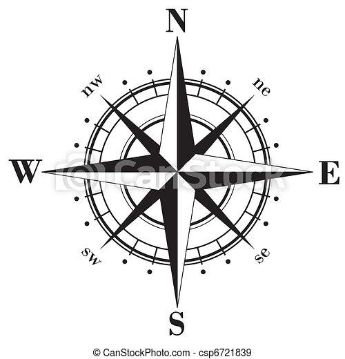 rose, compas - csp6721839