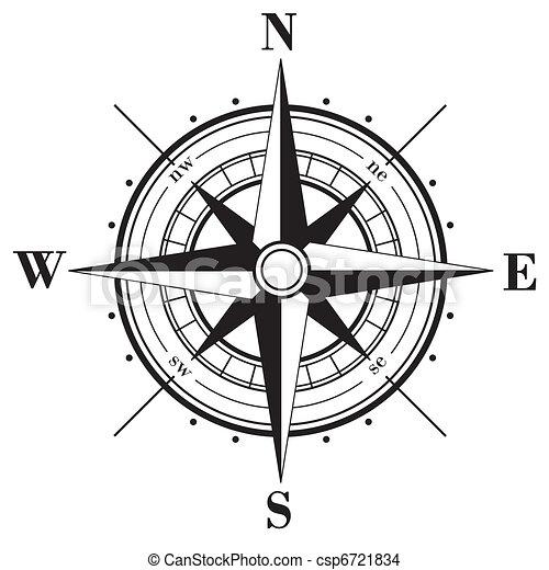 rose, compas - csp6721834