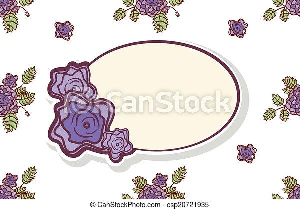 rose, cornice, retro, astratto - csp20721935