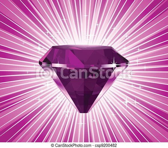 rose, diamant, illustration, vecteur - csp9200482