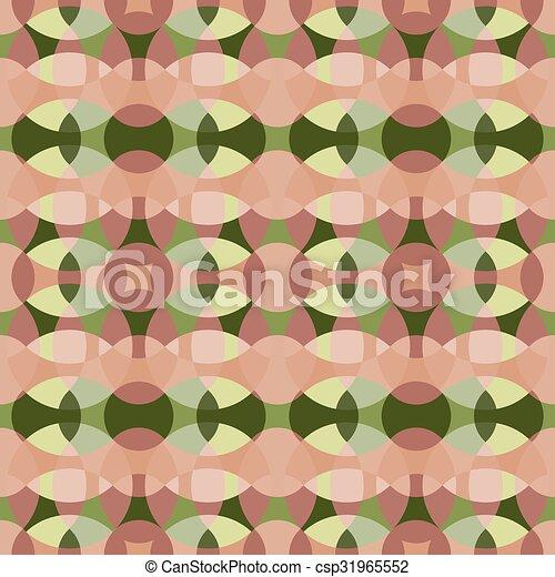 Rose, ensemble, quatre, motifs, vecteur, vert, retro, cercle ...