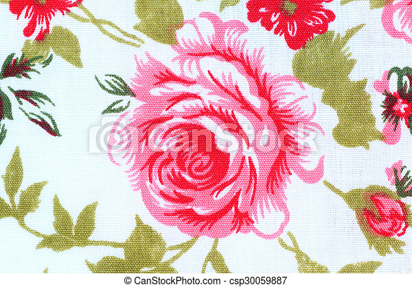Rose Fabric background, vintage colour effect - csp30059887
