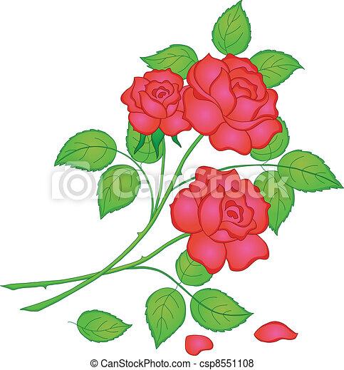 Dessin Bouquet De Rose Rouge Gite Pompadour Lubersac