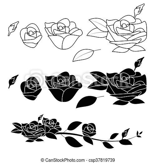 Rose flower vector black and white rose flower vector black and white mightylinksfo