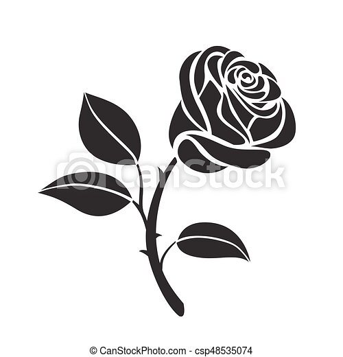Rose Flower Vector Icon Abstract Flower Rose Vector Outline Icon