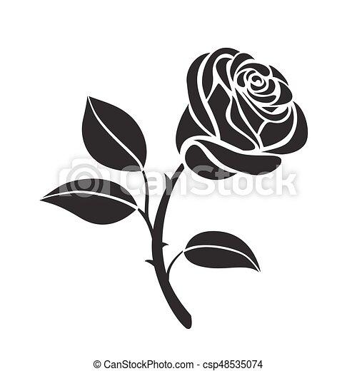 Rose Flower Vector Icon