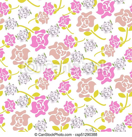 Rose flowers pink and green floral dark pattern seamless vector rose flowers pink and green floral dark pattern seamless vector flat colored flowers for print on fabric or wallpaper mightylinksfo