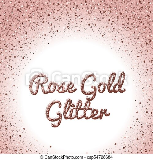 rose gold glitter background pink golden sparkling frame round
