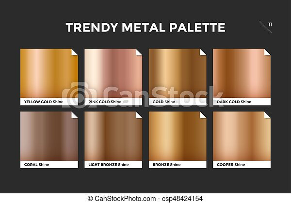 rose gold gradient template vector icon gold gradient template