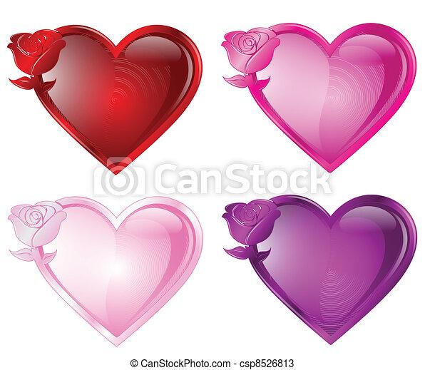 Rose Heart Button