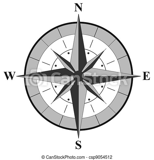 rose, illustration, compas - csp9054512