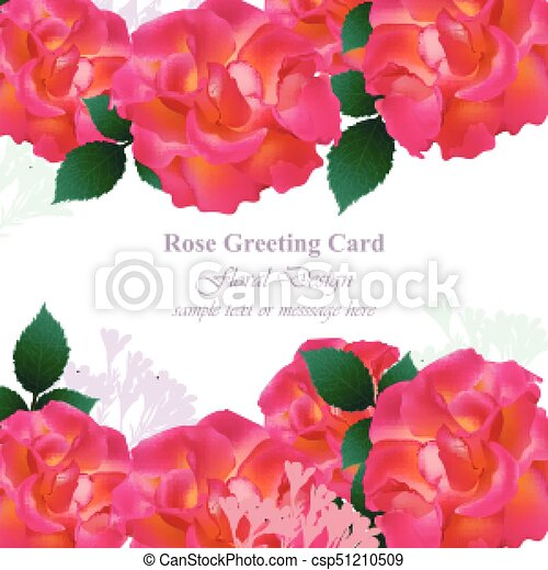Rose Invitation Flowers Lavande Roses Couleurs Carte Vector