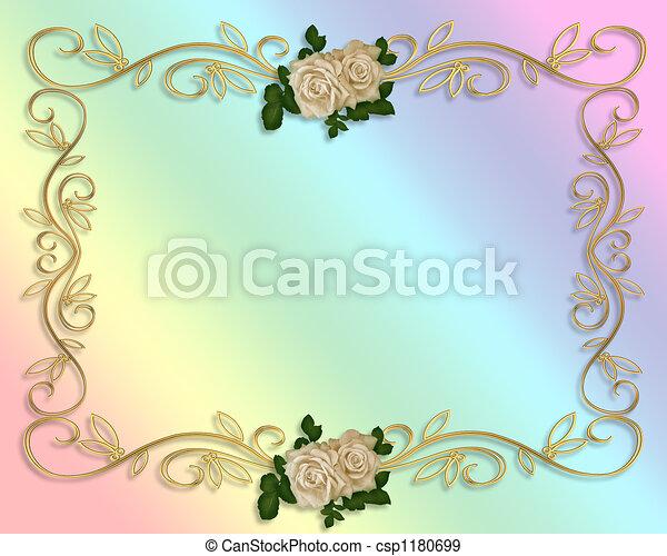 rose, invito matrimonio - csp1180699