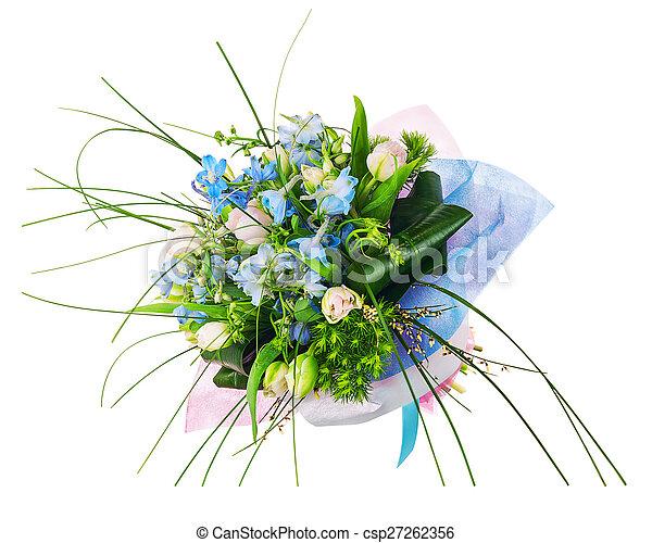 rose, iris, bouquet fleur, flowers., autre, roses - csp27262356