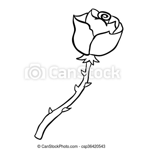 Rose noir dessin freehand blanc dessin anim simple - Rose noir dessin ...